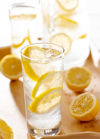 tray with glasses of lemonade. Stock Photo - 13040401