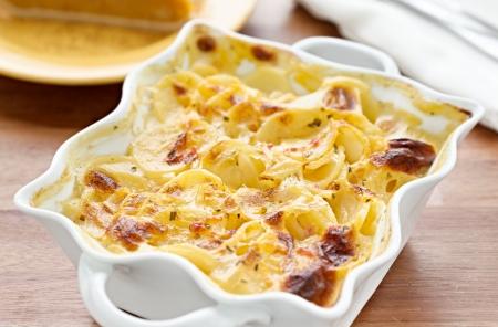 casserole: scalloped potatoes Stock Photo