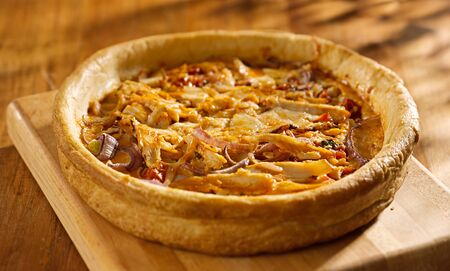 chicago style deep dish pizza with buffalo chicken Stock Photo - 14940619