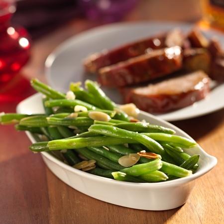 green beans almondine  Stok Fotoğraf