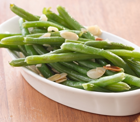 green beans: green beans almondine  Stock Photo