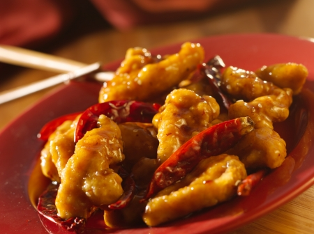 Chinese food -General Tsos chicken. photo