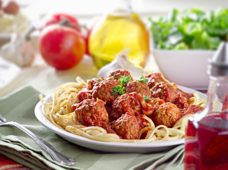 herzhafte Spaghetti-Essen