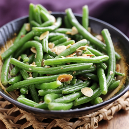 Green beans with almonds Stock Photo - 17286201