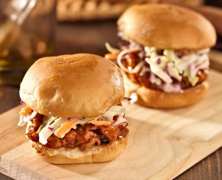 sandwich: bbq pulled pork sandwich sliders