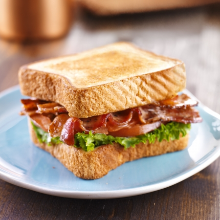 BLT bacon lettuce tomato sandwich photo