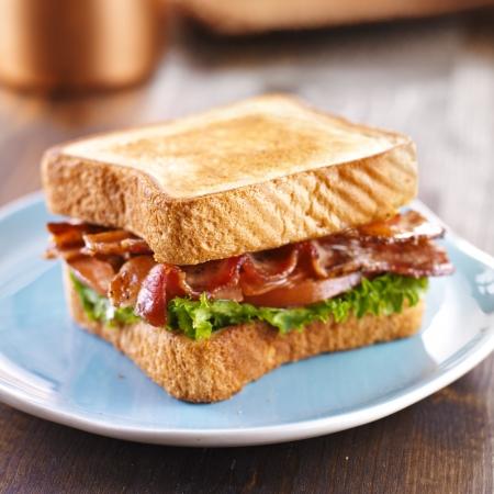 BLT Speck Salat Tomaten-Sandwich Standard-Bild - 19138495