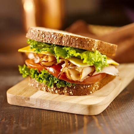 deli sandwich: deli meat sandwich with turkey