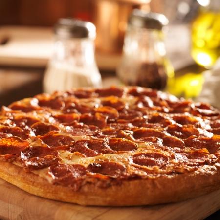 Pepperoni pizza at restaurant Stock Photo - 20298919