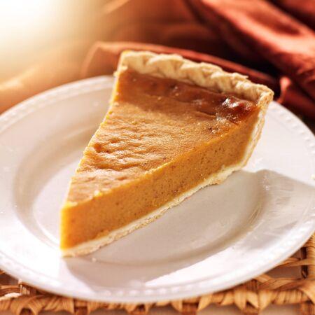 pumpkin pie basked in warm light Stock Photo - 21957422