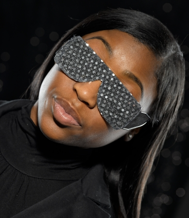 portrait of young African American women with sunglasses photo