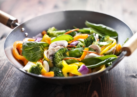 vegetarian wok stir fry photo