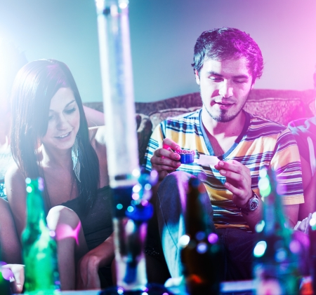 teens at party doing drugs Stock Photo - 22851704