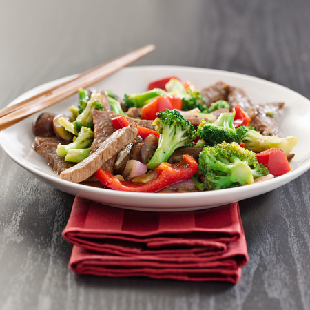 medley: beef stir fry with vegetables