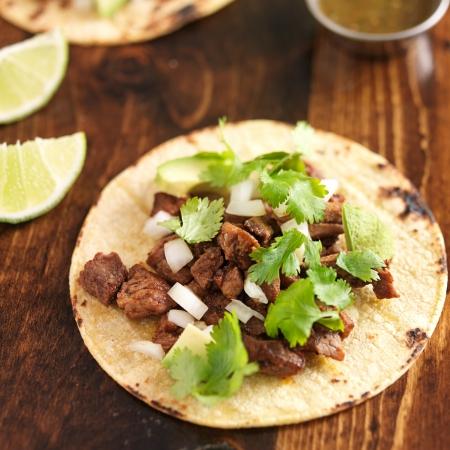 mexican food - soft tortilla corn taco