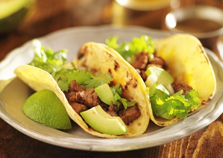 authentic mexican tacos with beef photo