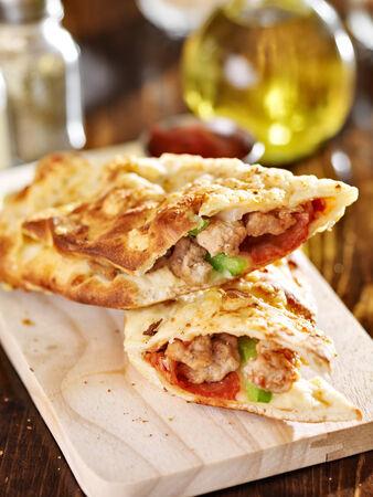stromboli: stromboli stuffed italian sandwich