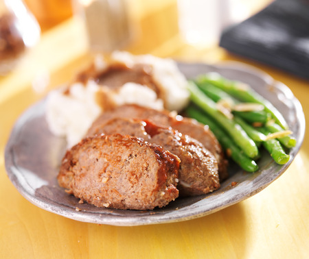 hearty meatloaf dinner with sides Stock Photo - 25856673