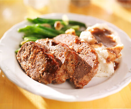 hearty meatloaf dinner with sides Stock Photo - 25857006