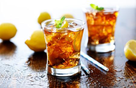 ice water: panoramic photo with sweet iced tea