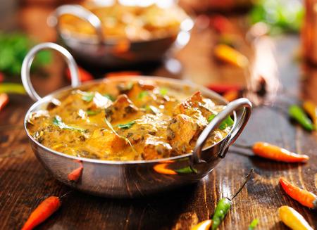 indian food - saag paneer curry dish photo