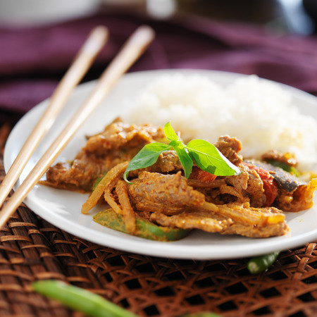 beef curry: thai panang beef curry