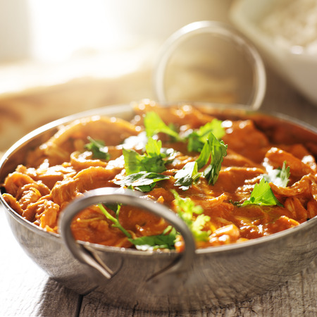 curry: indian curry - chicken tikka masala in balti dish Stock Photo