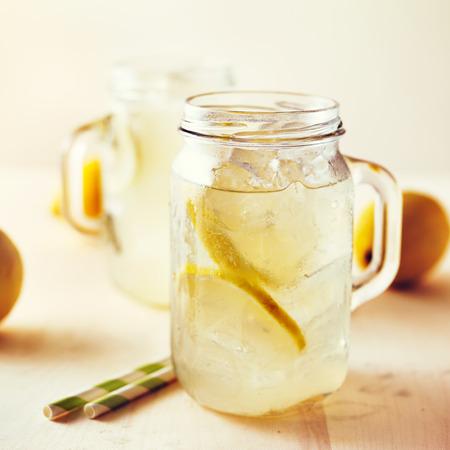 frasco: hecho en casa tiro limonada con filtro de instagram estilo