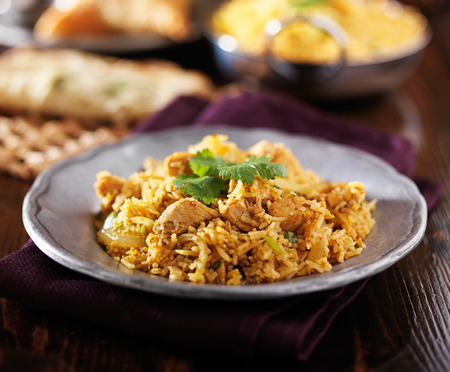 biryani: indian chicken biryani dish