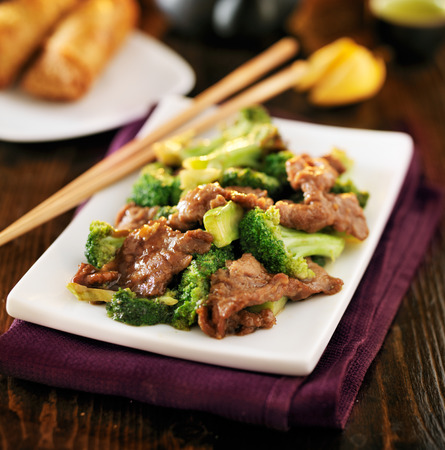 chinese beef and broccoli  stir fry photo