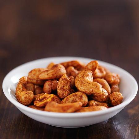 cashews: spicy mexican cashews in bowl