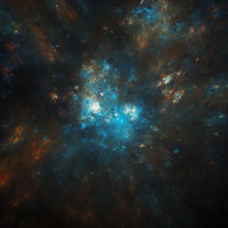 colorful cosmic nebula illustration Stock fotó