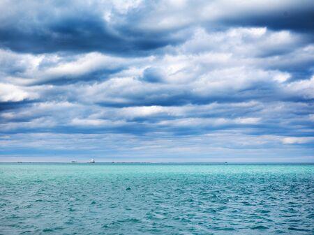 lake michigan lighthouse: view of lake michigan near chicago illinois