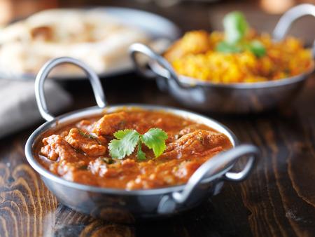 인도 카레와 Biryani 발티 요리