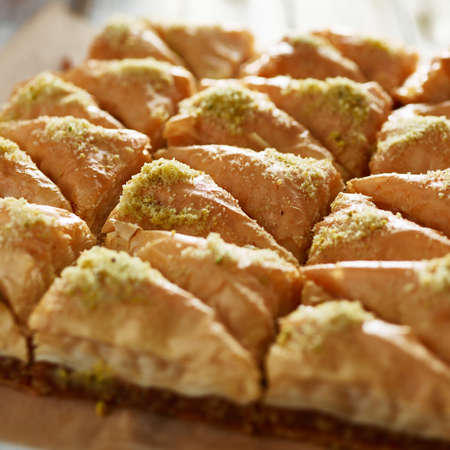 dozen: two dozen baklava close up
