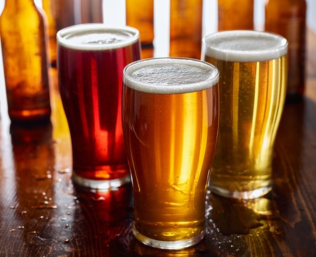 ipa: three types of beer, red ale, IPA