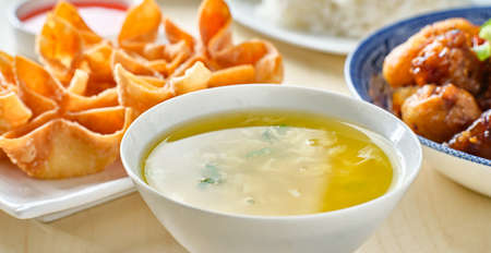 chinese egg drop soup in bowl