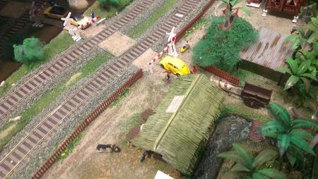railroad crossing: Railroad crossing miniature toy