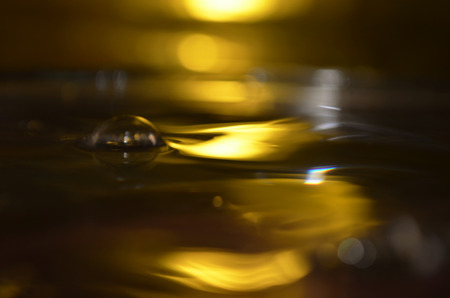 poetic: Golden Water Surface, Water Splash