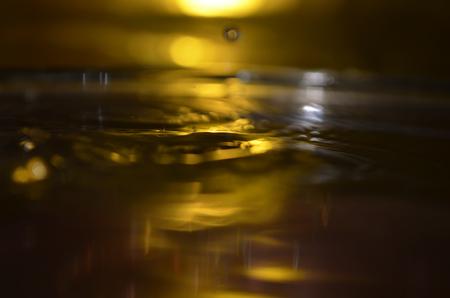 poetic: Golden Water Surface, Water Splash, Drop of Water
