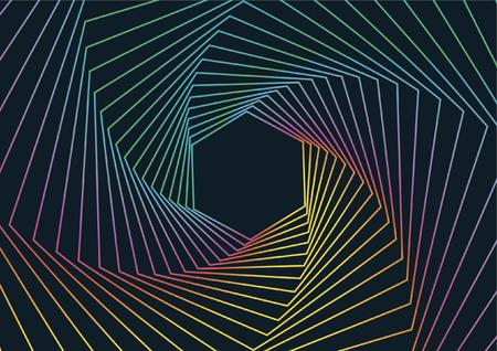 Geometric Line Art Background, Abstract Hexagonal Geometric Background Vectores