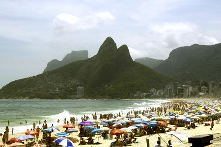 Rio de Janeiro, Brazil. November 17, 2018. Ipanema Beach on the Sunny Summer Day. Redakční