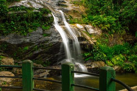 Rio de Janeiro, Brazil - January 20, 2019: Beautiful waterfall called