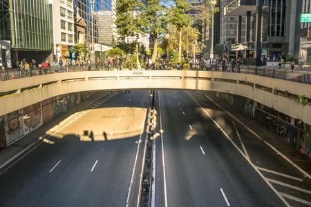 Sao Paulo, Brazil - May 15, 2018: Paulista Avenue. Tunnel between