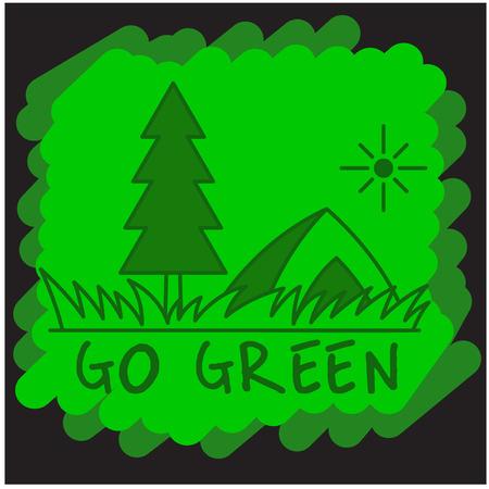 returned: Go Green Taglines Clipart Illustration