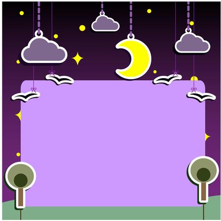nights: Nights Artwork Puppets Theatre Background for Slide Show Illustration