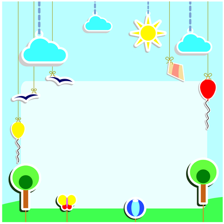 Playground Artwork Puppets Theatre Background for Slide Show