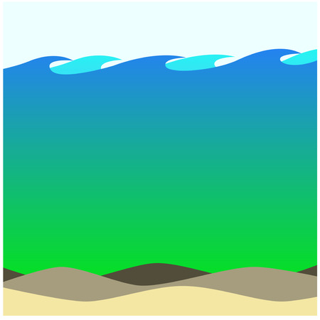 ecosystem: Salty Waters Beach Background Ecosystem Artwork