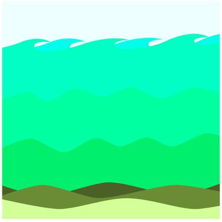 ecosistema: Antecedentes Salty Aguas Swarm Ecosistema ilustraciones Vectores