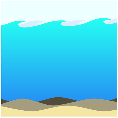 ecosystem: Shallow Waters Beach Background Ecosystem Artwork